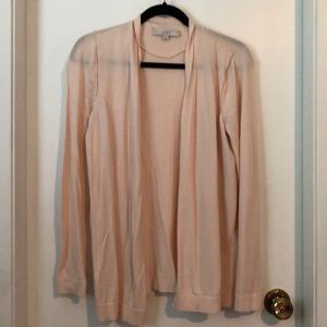 LOFT Open Cardigan - Blush/ Pink - M